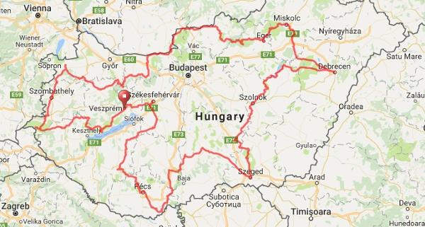 berhida térkép Hungary XXL berhida térkép