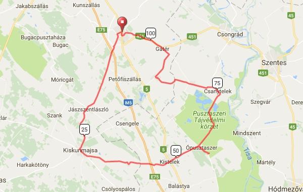 kiskunmajsa térkép IV. Kiskunság Maraton kiskunmajsa térkép