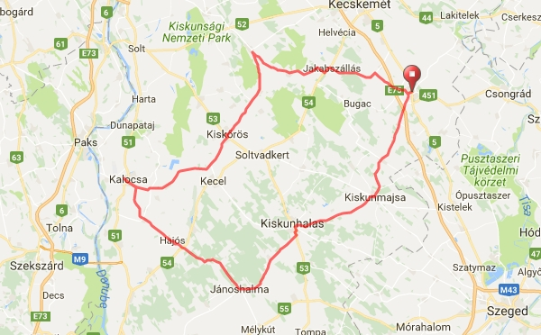 kiskunfélegyháza térkép IV. Kiskunság Maraton kiskunfélegyháza térkép
